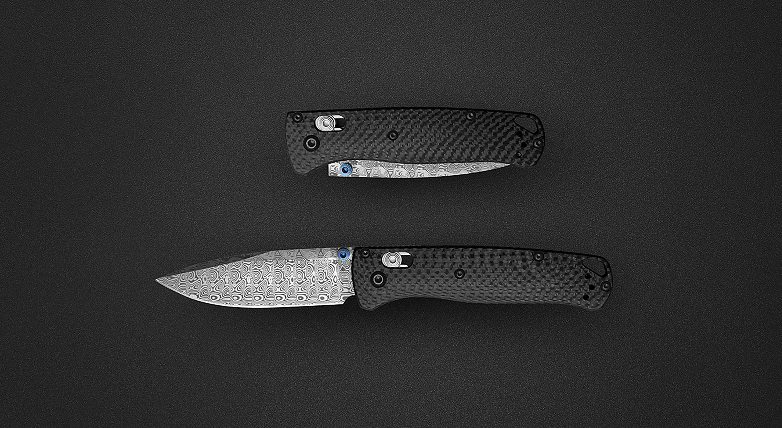 Benchmade Bugout custom knife builder damasteel
