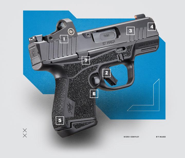 Kimber R7 Mako 9mm micro compact pistol